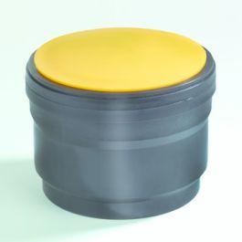 PE Snapmof met speciedeksel 40mm mof/spie zwart
