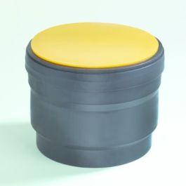 PE Steekmof met speciedeksel 40mm mof/spie zwart