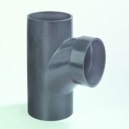PE Stroom T-stuk 110mm 88,5° zwart