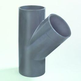 PE T-stuk 40mm 45° zwart