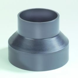 PE Verloopstuk centrisch 40x32mm zwart