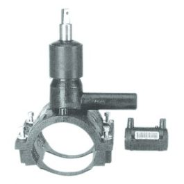 PE100 Drukaanboorventiel SDR11 50x32mm zwart