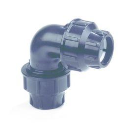 Plassim PP Knie PN16 16mm 2x knel 90° zwart
