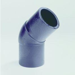PE100 Knie SDR11 32mm 2x spie 45° zwart