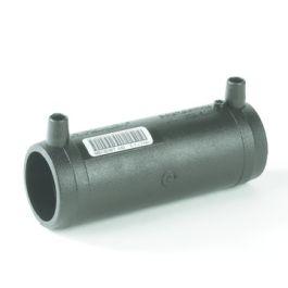 PE100 Lange mof met verwijderbare stootrand SDR11 32mm 2x mof zwart