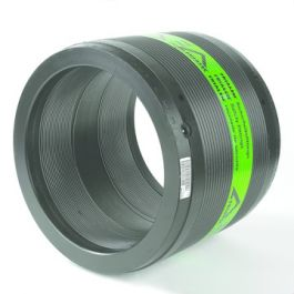 PE100 Mof zonder stootrand SDR11 200mm 2x mof zwart