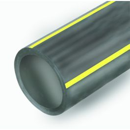 PE100 Buis SDR17,6 63x3,6mm GAS zwart/geel R=50m