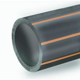 PE100 Buis riool SDR11 PN16 110x10,0mm zwart/bruin L=6m
