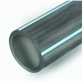 PE80 Buis drinkwater SDR17 PN8 63x3,8mm zwart/blauw L=6m