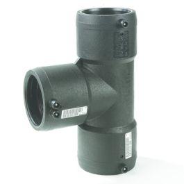 PE100 T-stuk SDR11 75mm 3x mof 90° zwart