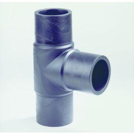 PE100 T-stuk SDR17 110mm 3x spie 90° zwart