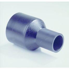 PE100 Verloop SDR17 110x63mm 2x spie zwart
