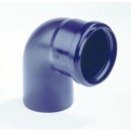 PP Bocht 32mm mof/spie 90° zwart