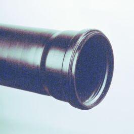 PP Standleidingbuis met mof 75x 1,9mm zwart L=2,60m
