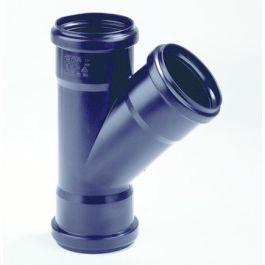 PP T-stuk 32mm 3x mof 45° zwart