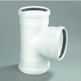 PP T-stuk 32mm 3x mof 90° wit