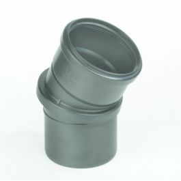 PP Verdraaibare bocht 110mm mof/spie 0-30° zwart