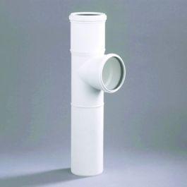DykaStil Verl Closet T-Stuk inbouwmof 110mm 2xmof/ 1x spie 87° wit