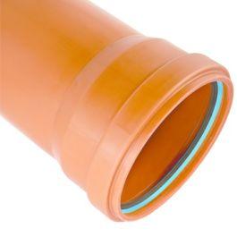 Solydo PP10 Buis SN8 110x4,2mm mof/spie roodbruin L=6m