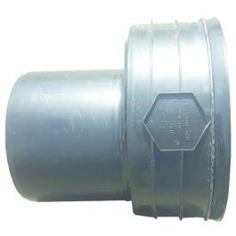 Ultra Kyma PP/PVC Overgangsstuk exc. mof/ spie DN400x200mm zwart