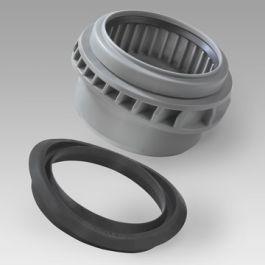PP Betoninlaat met rubber ring 160mm boring 201mm grijs