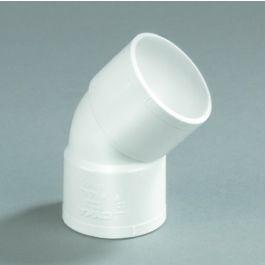 PVC Bocht 32mm 2x lijmmof 45° wit