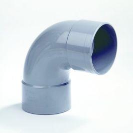 PVC Bocht 160mm 2x lijmmof 90° grijs