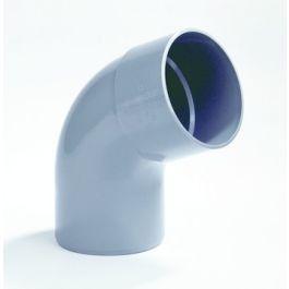 PVC Bocht 40mm lijmmof/ spie 67,5° grijs