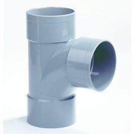 PVC Stroom T-stuk 110mm 3x lijmmof 90° grijs