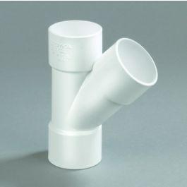 PVC T-stuk 32mm 3x lijmmof 45° wit
