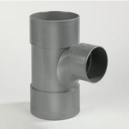 PVC Verloop stroom T-stuk 110x50mm 3x lijmmof 90° grijs