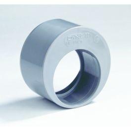 PVC Verloopring excentrisch 125x50mm spie/ lijmmof grijs