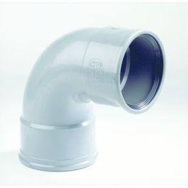 PVC Bocht SN4 200mm 2x mof 90° grijs