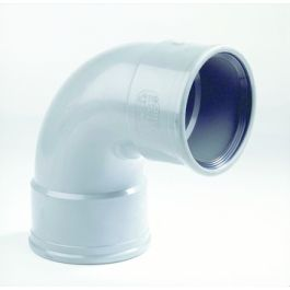 PVC Bocht SN4/SN8 110mm 2x mof 90° grijs