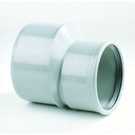 PVC excentrisch verloopstuk SN4 125x110mm spie/mof grijs