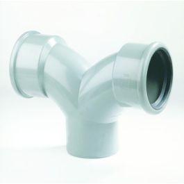 PVC Flexibele stroom T-stuk SN8 125mm 2x mof/ 1x spie 90° grijs