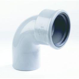 PVC Flexibele bocht SN8 125mm mof/ spie 90° grijs