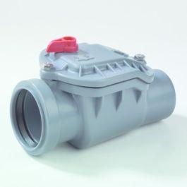 ABS Ontstoppingsstuk - vergrendelbare keerklep 50mm mof/ spie grijs
