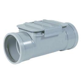 PVC Ontstoppingsstuk met vlakdeksel SN8 125mm 2x mof grijs