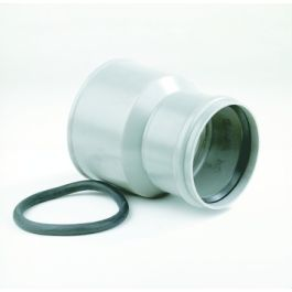 PVC Overgangsstuk PVC-Asbestcement centrisch 125x161mm grijs