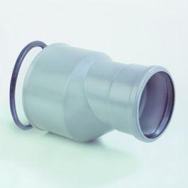 PVC Overgangsstuk - Grès excentrisch 110x180mm grijs