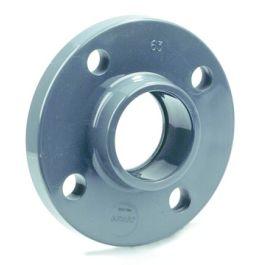 PVC Fixeerflens 20xDN15mm S=65 PN16 donkergrijs