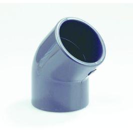 PVC Knie PN16 16mm 2x lijmmof 45° grijs