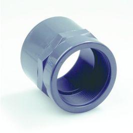 """PVC Overgangsmof PN16 16mm x 3/8"""" lijmmof/ binnendraad grijs"""