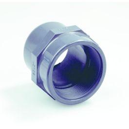 "PVC Overgangsstuk 16mm x 3/8"" PN16 spie/binnendraad grijs"