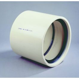 PVC Overschuifmof KIWA PN10 500mm 2x mof crème