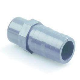 PVC Slangpilaar 12mm PN16 spie donkergrijs
