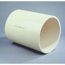 PVC Steekmof PN10 250mm 2x lijmmof crème