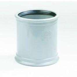 PVC Overschuifmof 40mm 2x mof grijs