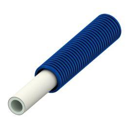 TECElogo Alupex Buis in schutmantel 16mm blauw R=75